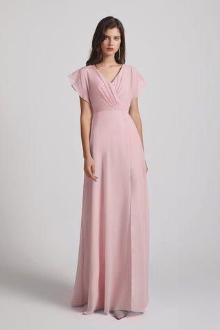 Flutter Sleeve Bridesmaid Dresses