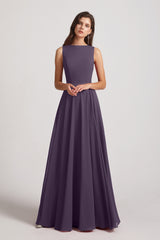 sleeveless chiffon bridesmaid dresses