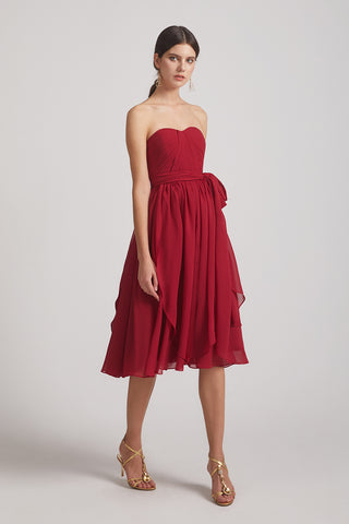 Draped Sweetheart Convertible Short Chiffon Bridesmaid Dresses