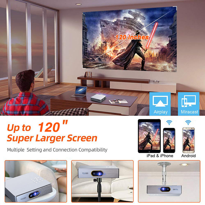 Toumei S9 Real 1080P Portable 3D Mini Home Theater Projector Details 16