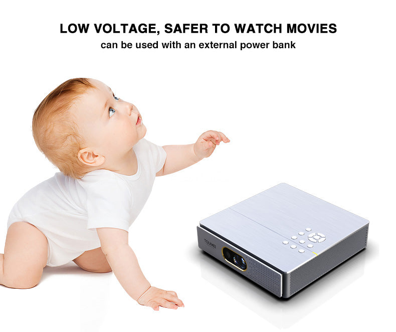 TOUMEI S9 Real 1080P Home Theater Short Throw 3D Mini Portable Projector Details 20
