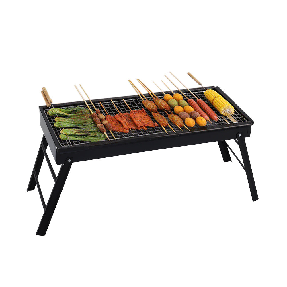 Large Folding Charcoal BBQ Grill Fire Pit Portable Stove