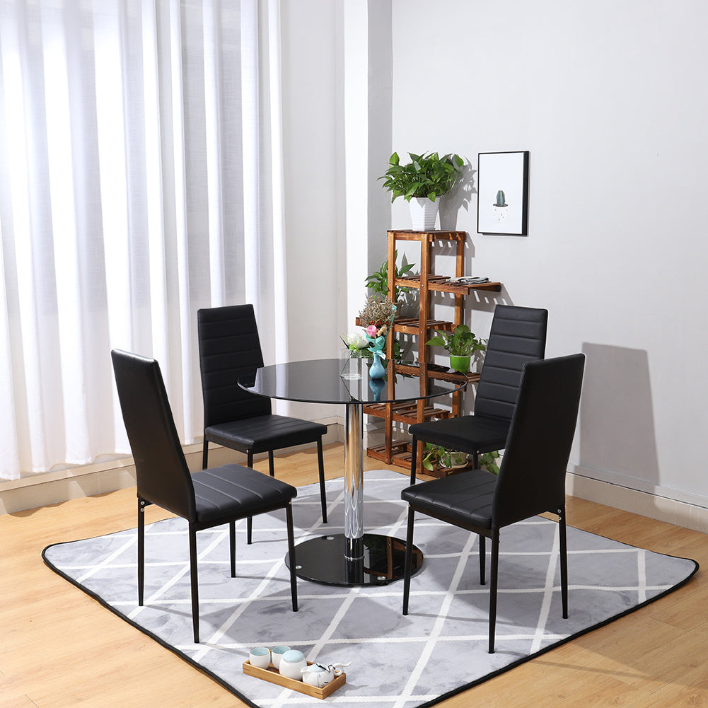 Round Tempered Glass Accent Side End Table Coffee Sofa Table
