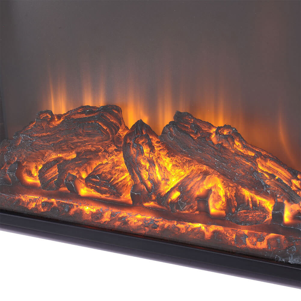 26 Inch Inset/Freestanding LED Fireplace Heater Red Brick Effect +Remote Control