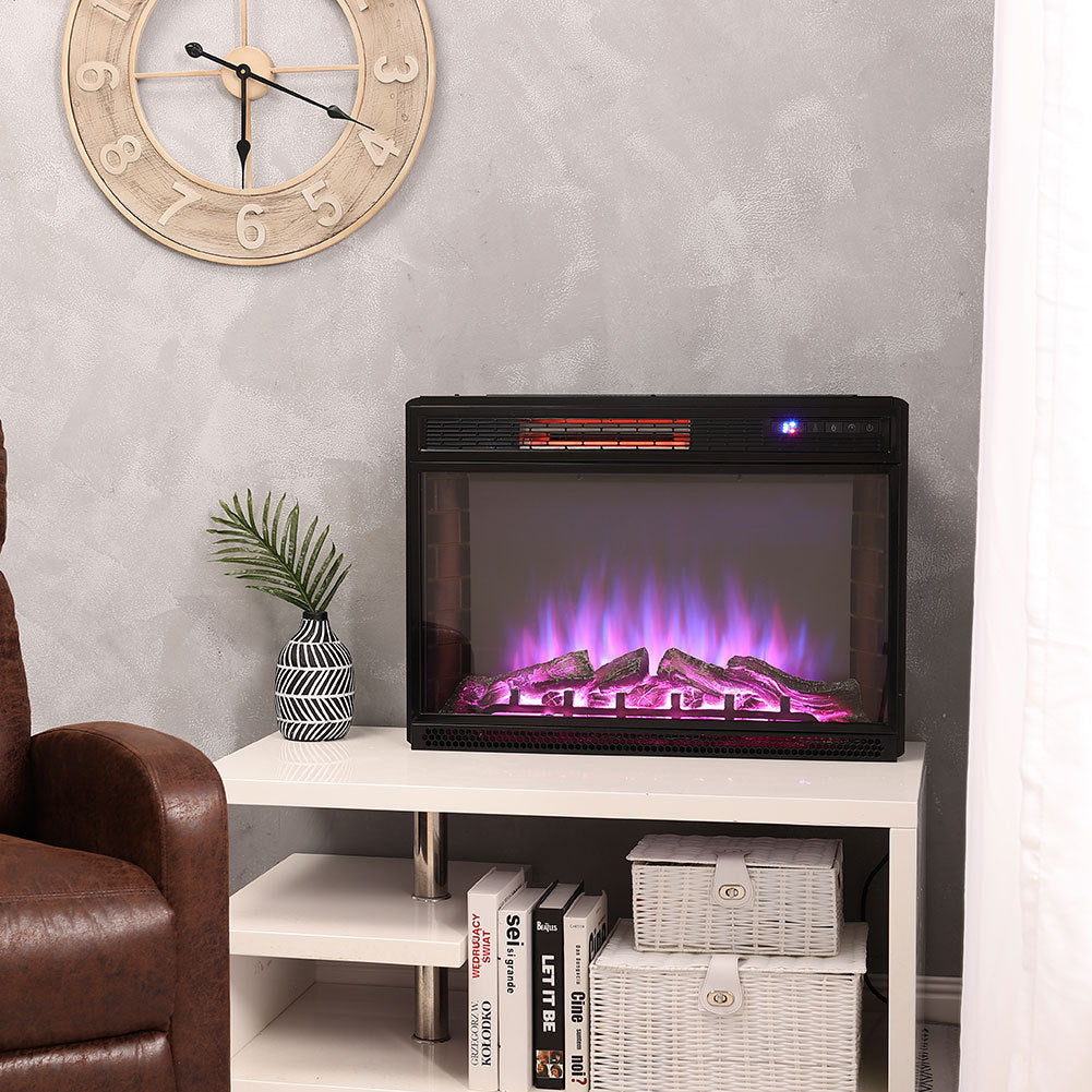 28 inch 3 Colour Light Electric Fireplace Wall Mounted Glass w/Remote Control