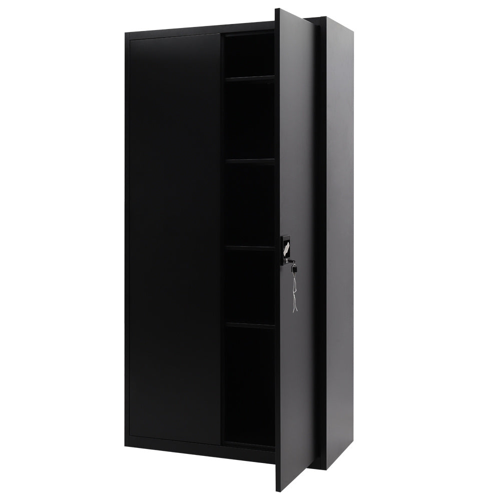 Office Storage Metal Cabinet Filing Document Cupboard Lockable Organizer Shelves