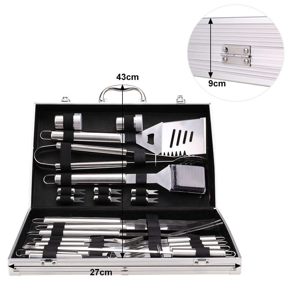 26pcs BBQ Essential Grill Tools Steel Barbecue Utensils