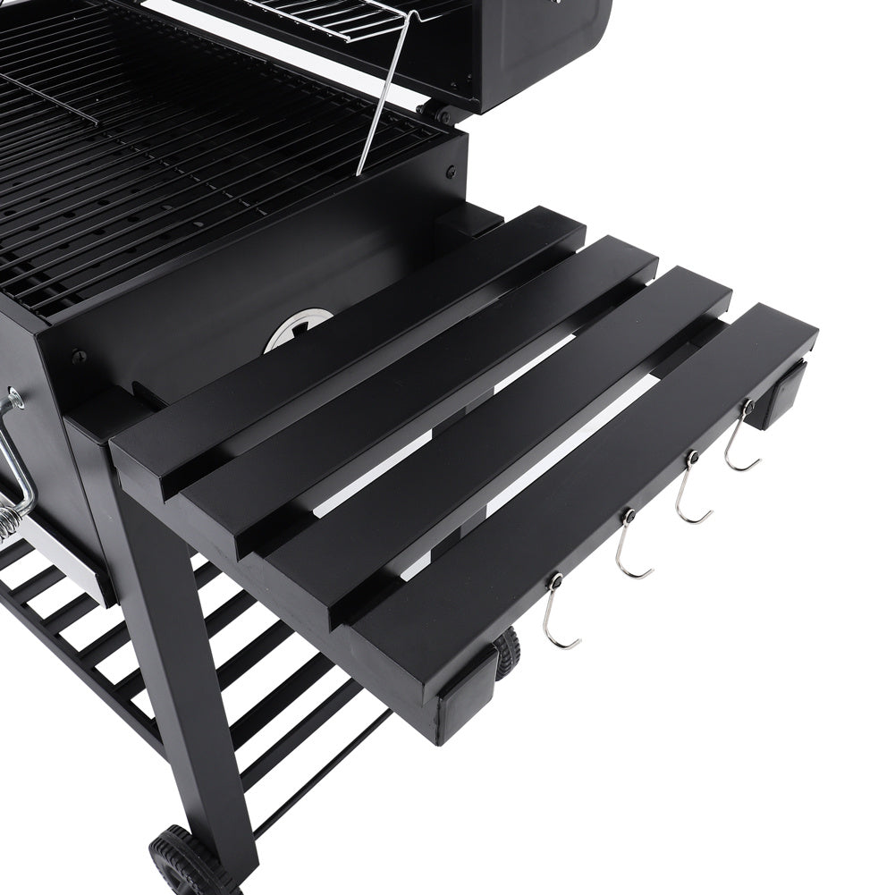 Portable Charcoal BBQ Grill Cart Patio Party Barbecue Trolley