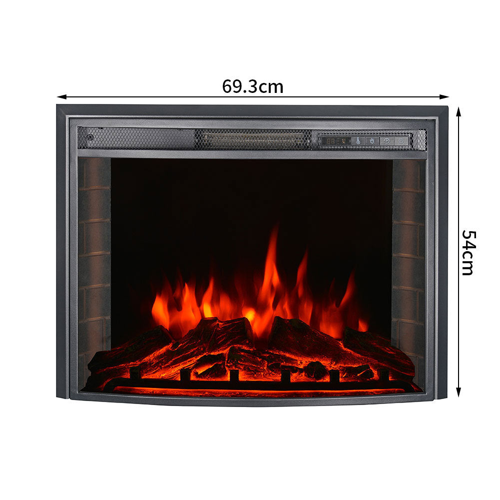 26 Inch Insert LED Arc Electric Fireplace 900W/1800W 3 Colour  + Remote