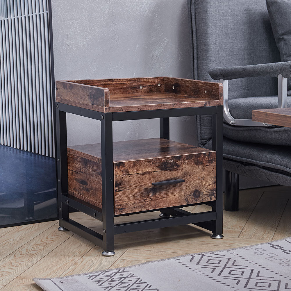 Square Wood Sofa Side End Table Lamp Table Nightstand