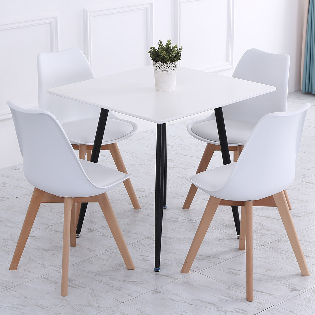 4pcs Modern Dining Chairs Lounge Chairs High Back PU Leather Seat Kitchen Office