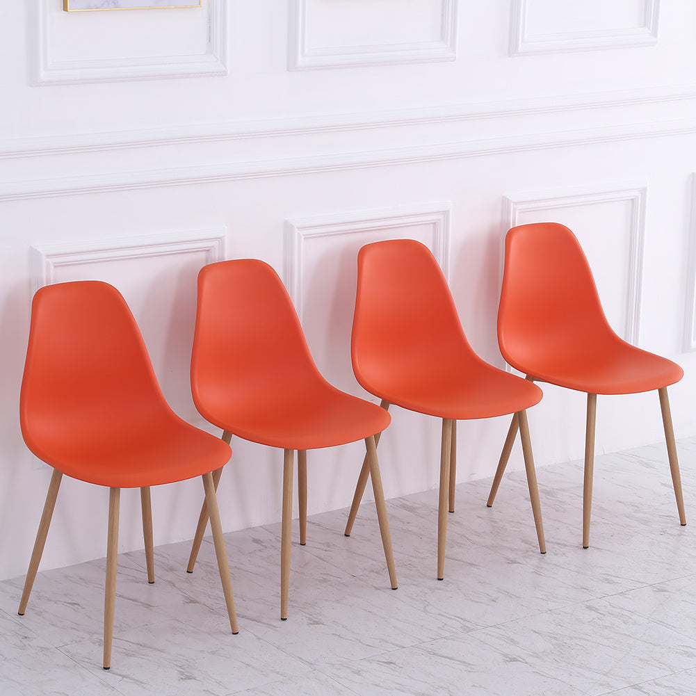 4pcs Modern Plastic Dining Chair Side Chair Lounge Chair Kitchen Office Seat