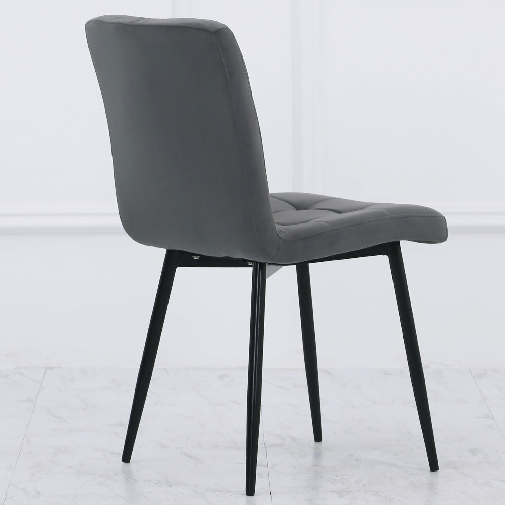 Set of 4 Matte Padded Dining Chair Living Room Kitchen Seat with Metal Legs