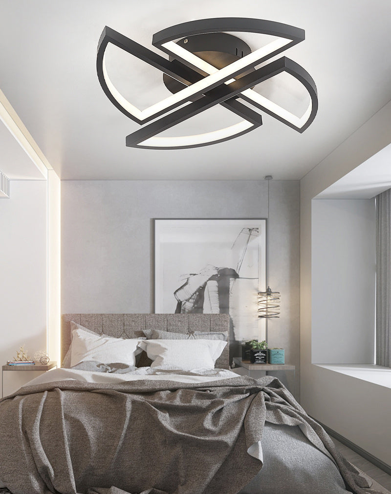 Black Windmill LED Ceiling Light Dimmable/Cool White
