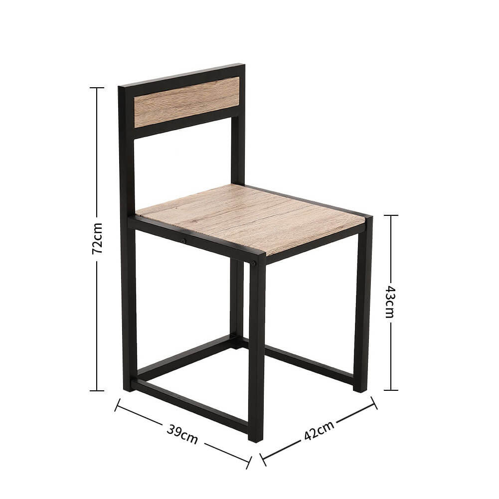 Retro Bar Table and 2 Bar Stools Chair Set Bistro Cafe