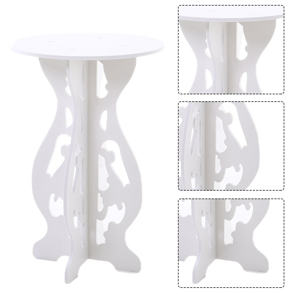 Small Side Table Round Coffee Tea Table Balcony Plant Stand