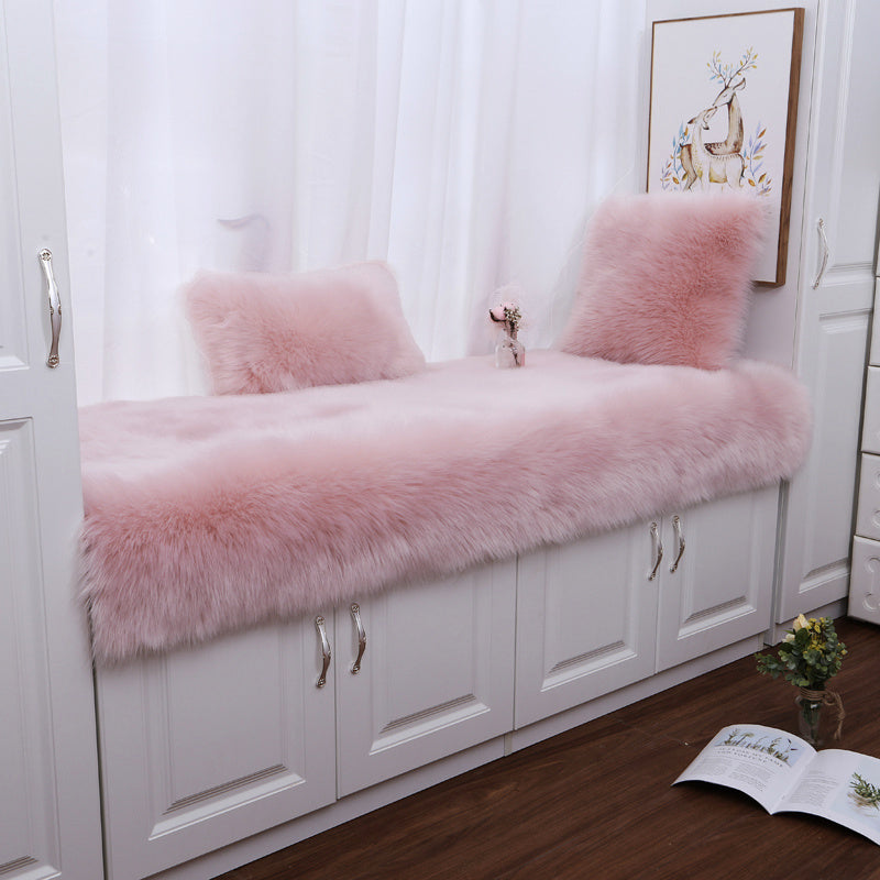 Large Fluffy Faux Fur Plush Sheepskin Area Rug Non Slip Floor Carpet Rug