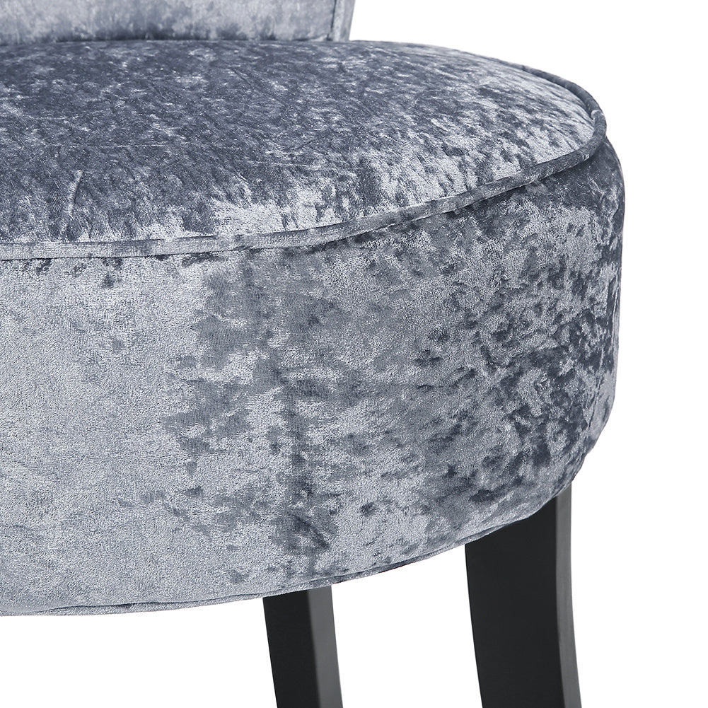 Upholstered Button Dressing Table Stool Vanity Stool