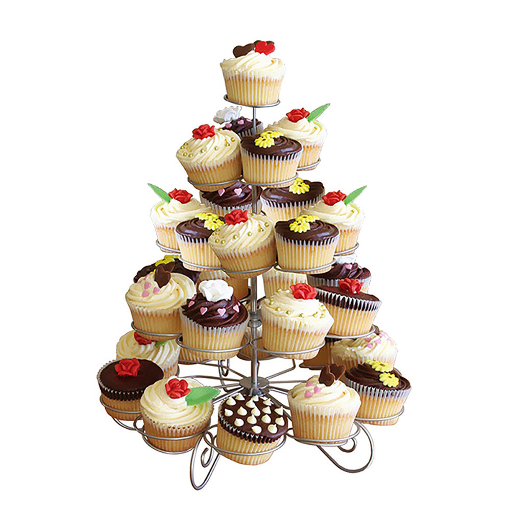5 Tier Metal Wire Cupcake Holder Display Stand for Wedding Party