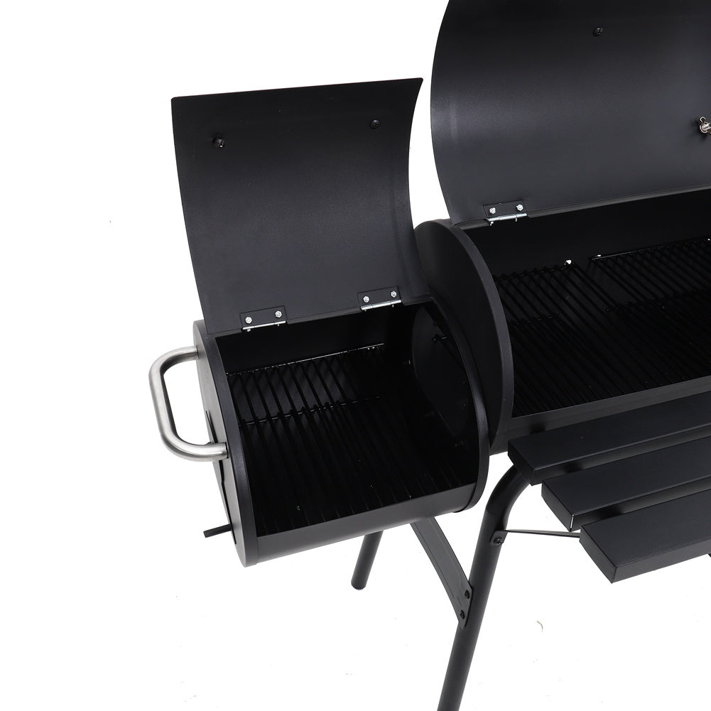 45 Inch Garden Party Charcoal Smoker Grill BBQ 2 Barrel Trolley