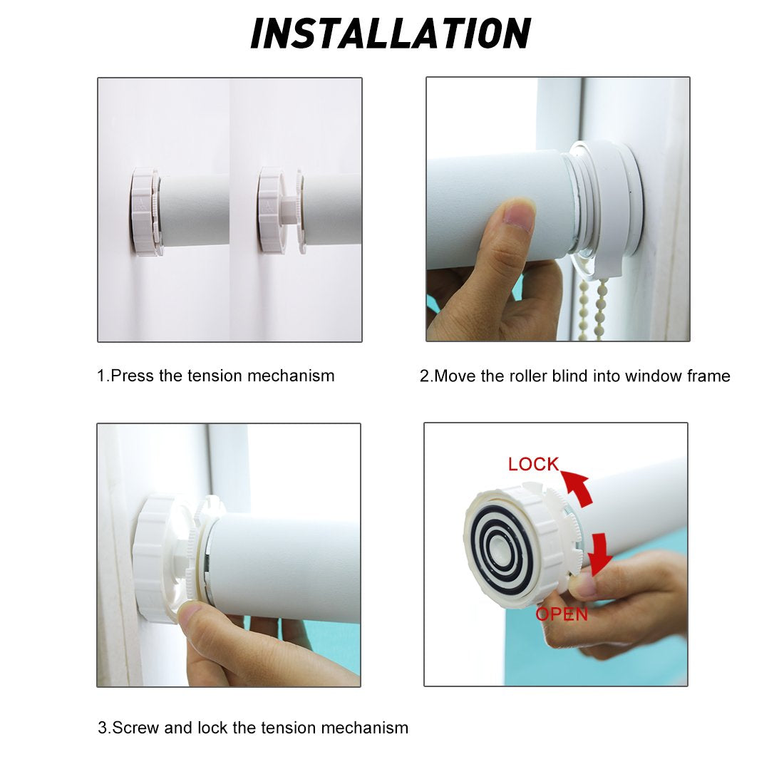 How to install No drill blinds