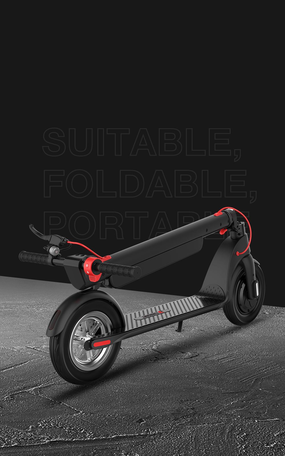Turboant X7 Pro Folding Electric Scooter Bundle with affordable price for adults