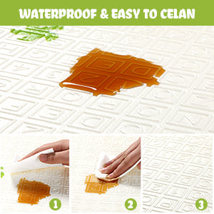Water-Resistant and Easy to Clean The top layer of the crawling mat