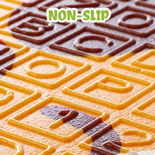Non-Slip With the textured letters and numbers on the surface of the baby play area
