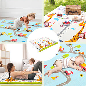 EXTRA LARGE PLAY AREA FOR KIDS Open Size:77.5 x 70 x 0.6in play mat