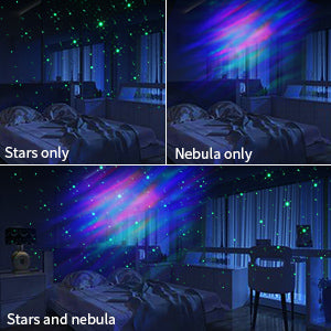 BAMMAX Night Light Projector, Aurora LED Star Projector with Nebula Cloud Starry Night Projector for Kids Boy Girl, Bedroom, Room Decor, Home Theatre, Built-in Bluetooth Speaker, Remote Control, White