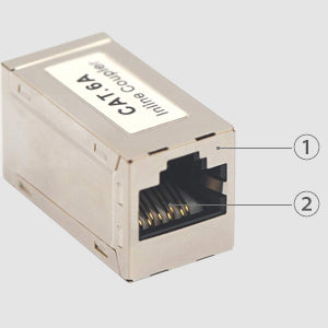 RJ45 CAT6A Female to Female in-Line Coupler