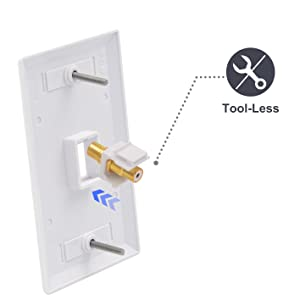 Single RCA Connector Wall Plate
