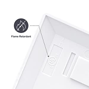 VCE Single RCA Keystone Insert with White Center Jack Wall Plate