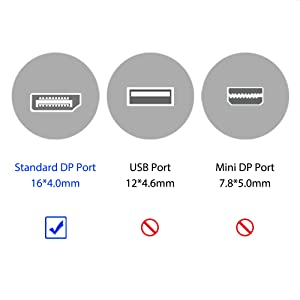 DisplayPort to HDMI Male to Female Adapter