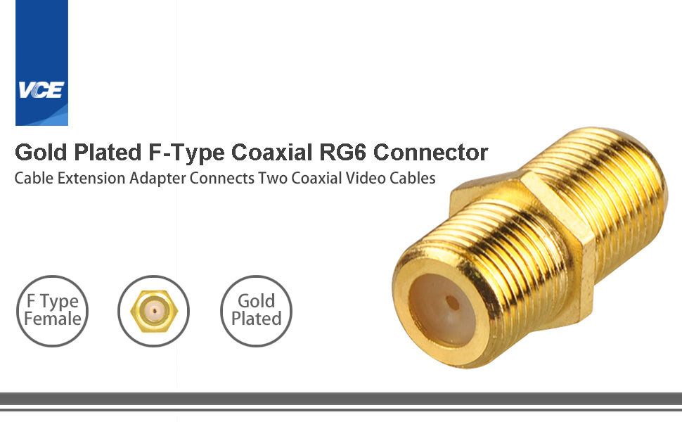 F-Type Coaxial RG6 Cable Connector