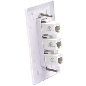 3 Port Cat6 Connector Wall Plate