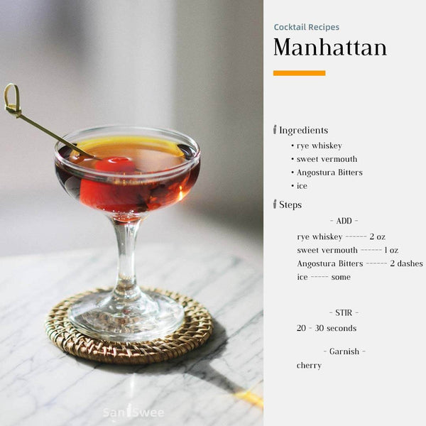 Manhattan Cocktail Recipes - SanSwee