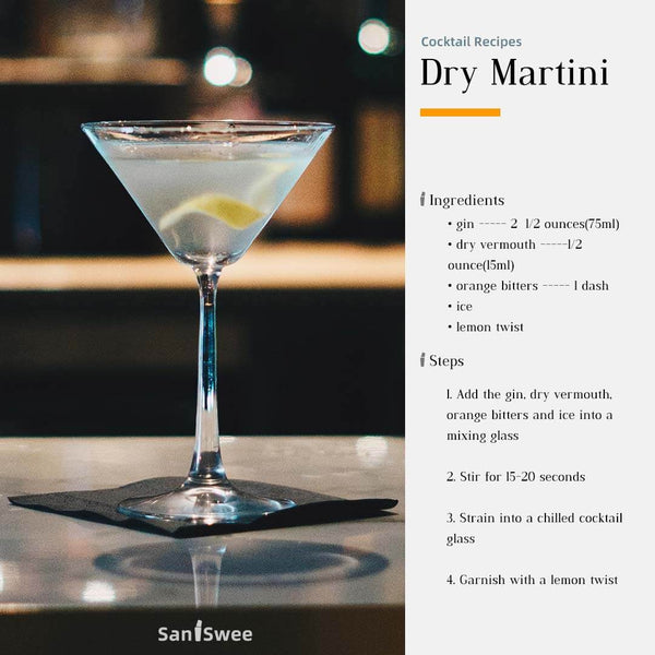 Dry Martini Cocktail Recipes - SanSwee