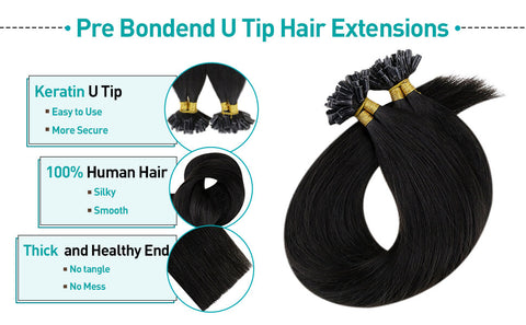 off black hair extensions fusions u tip