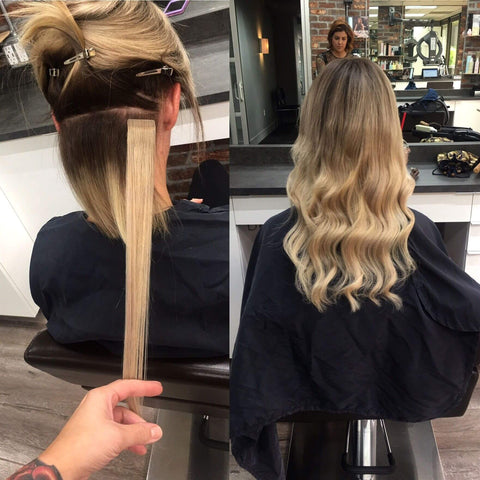 clip in balayage haie extensions