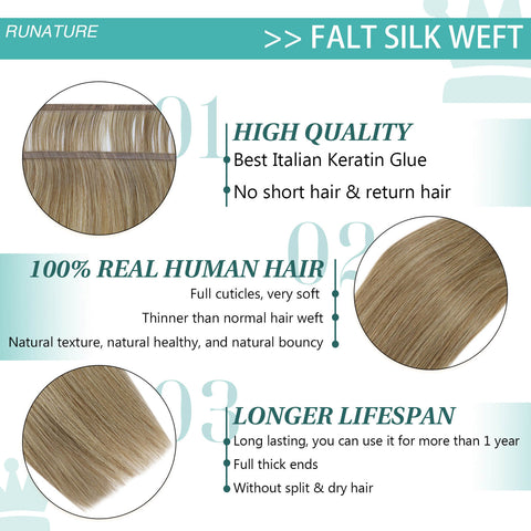 quality flat silk weft hair extensions