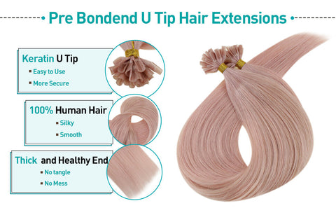 u tip human hair extensions colored lilac