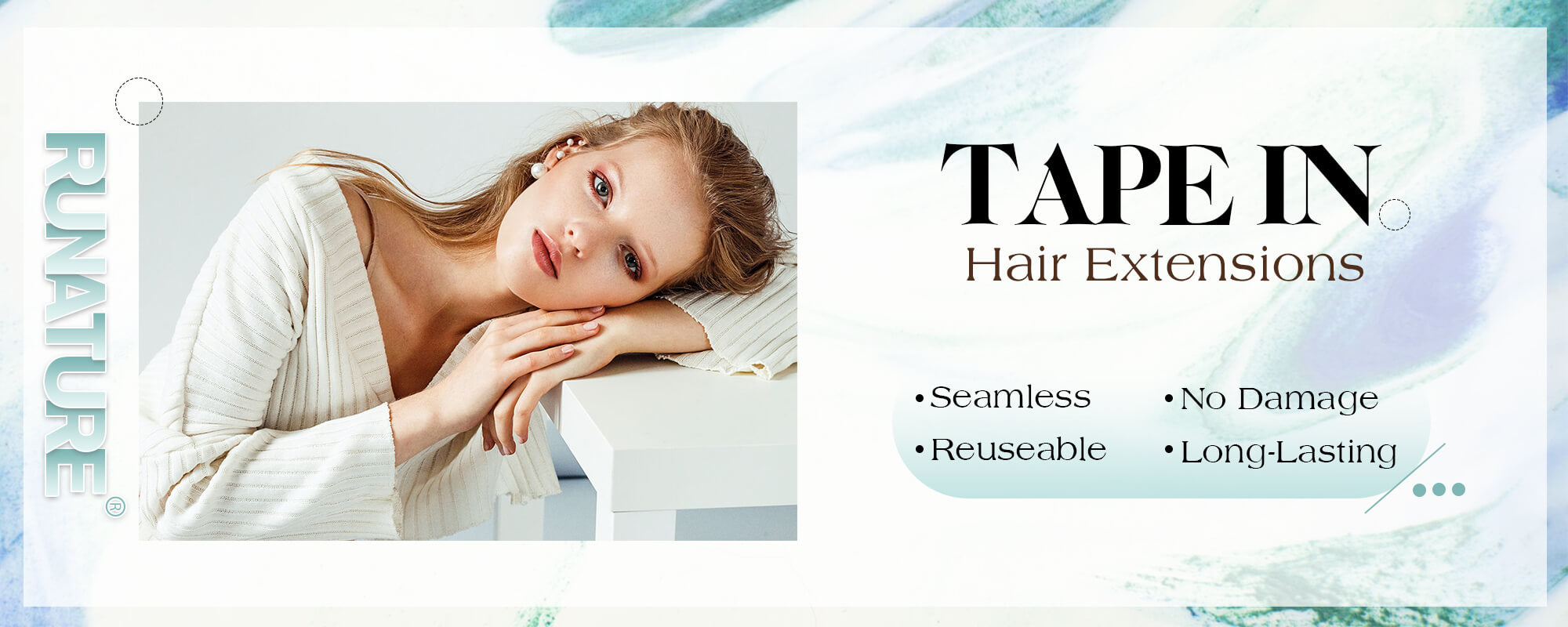 runature tape in hair extensions