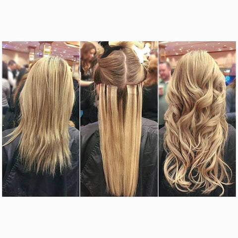 balayage tape in human hair extensions