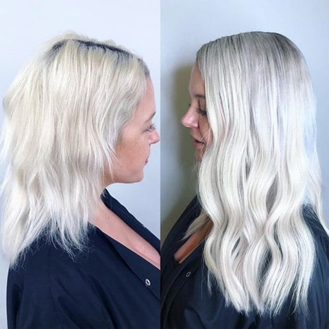 white blonde tape in human hair extensions