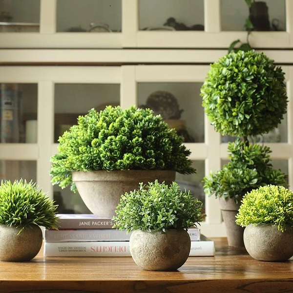 Artificial Boxwood Topiary in Various Designs