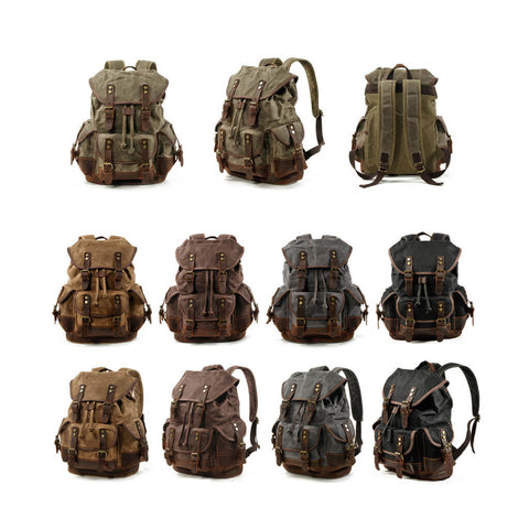 waxed canvas daypack for men