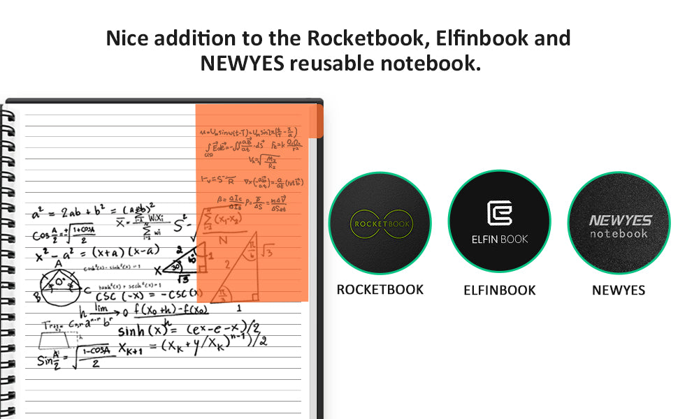 great additional to rocketbook, elfinbook and newyes smart notebook