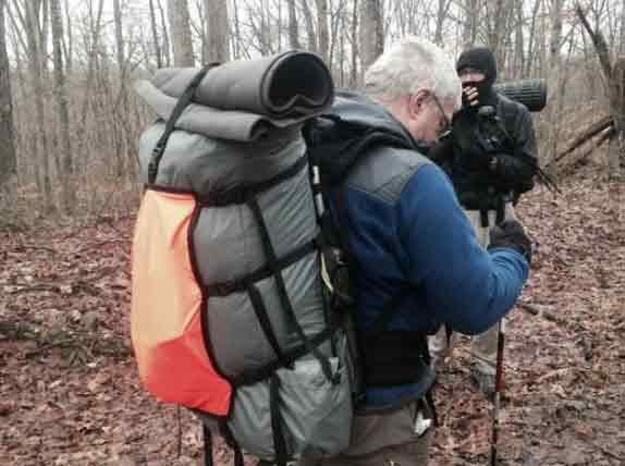 The structure of the mountaineering backpack carrying system