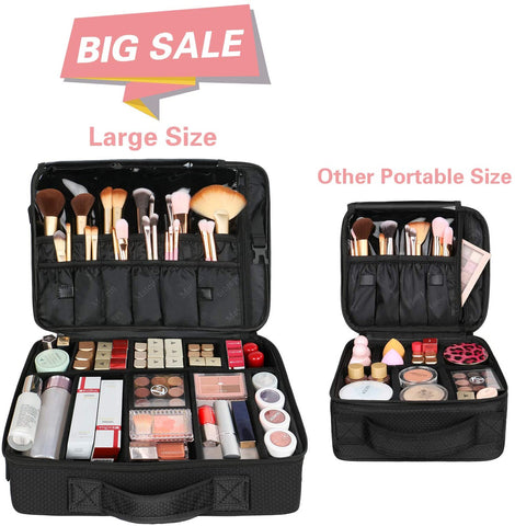 Matein Travel Professional Makeup Train Case Cosmetic Bag